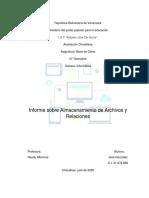 Almacenamiento de Archivo y Relaciones