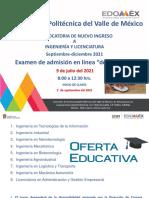Convocatoria Universidad Politécnica del Valle de México 2021