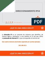 Sustentación Direccionamiento IPv4