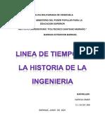 Linea de Tiempo Historia de La Ingieneria