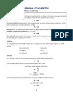 Segunda Ley de Newton (Una Sola Fuerza)