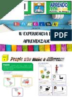 Inglés Experiencia de Aprendizaje 4