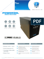 Ficha tecnica UPS powersel