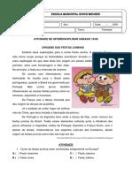ATIVIDADE DE INTERDISCIPLINAR SÁBADO 19-06