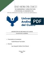 INFORME N4 LABORATORIO DE MECANICA DE FLUIDOS