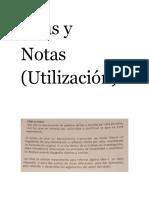 Citas y Notas (Material Teórico)