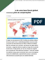 A proposta de uma taxa fiscal global mínima para as corporações