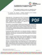 """18-09-2019 SESIONA LA MESA DE COORDINACIÓN; NO SE REPORTAN AFECTACIONES POR LAS LLUVIAS OCASIONADAS POR LA TORMENTA """"LORENA"""""""