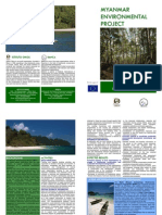 Myanmar Environmental Project Brochure