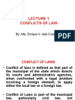 CONFLICTS OF LAW - LECTURE 1 (2010) (01)