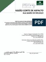 permissão corte de Asfalto Rua Barão de melgaço para infraestrutura de fibra óptica