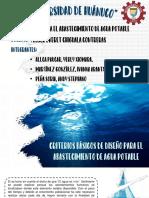 Criterios de Diseño de Agua Potable