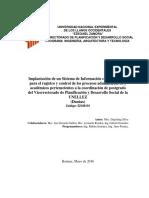 3 Implantacic3b3n de Un Sistema de Informacic3b3n Coordinacic3b3n de Postgrado Vpds Unellez Dantax