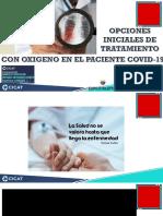 1. Opciones iniciales en el tratamiento con oxigeno en el paciente Covid 19