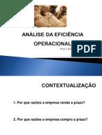 2.3 Analise da Eficiencia Operacional (Prazos Medios)