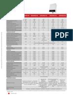 Data Sheet de l'Onduleur