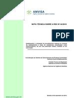 NOTA TÉCNICA RDC 61