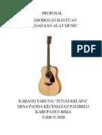 Proposal Pengadaan Alat Music