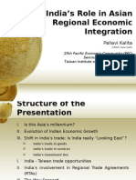 India's role in Asian Integration1