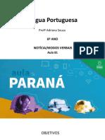 língua _ portuguesa_6 ano_ Slide_ aula81