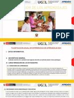 PLANIFICACION ANUAL DE EXPERIENCIAS DE APRENDIZAJE- EXPERINCIA DE A.