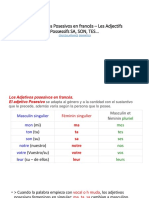 Los Adjetivos Posesivos en francés – Les Adjectifs