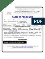 FORMATO MODELO EJEMPLO CARTA DE RESIDENCIA DEL BARRIO LA TOMA
