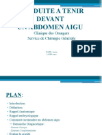 Conduite à tenir devant un abdomen aigu