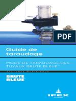 guide de taraudage brute bleue