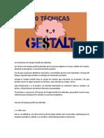 10 Técnicas Más Utilizadas de La Gestalt.