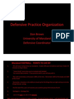 U of MD Defensive Practice Org.