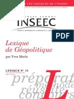 Lexique GEOPOLITIQUE