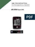 MainNav GPS Manual MG-950d User Manual 2008-09-16