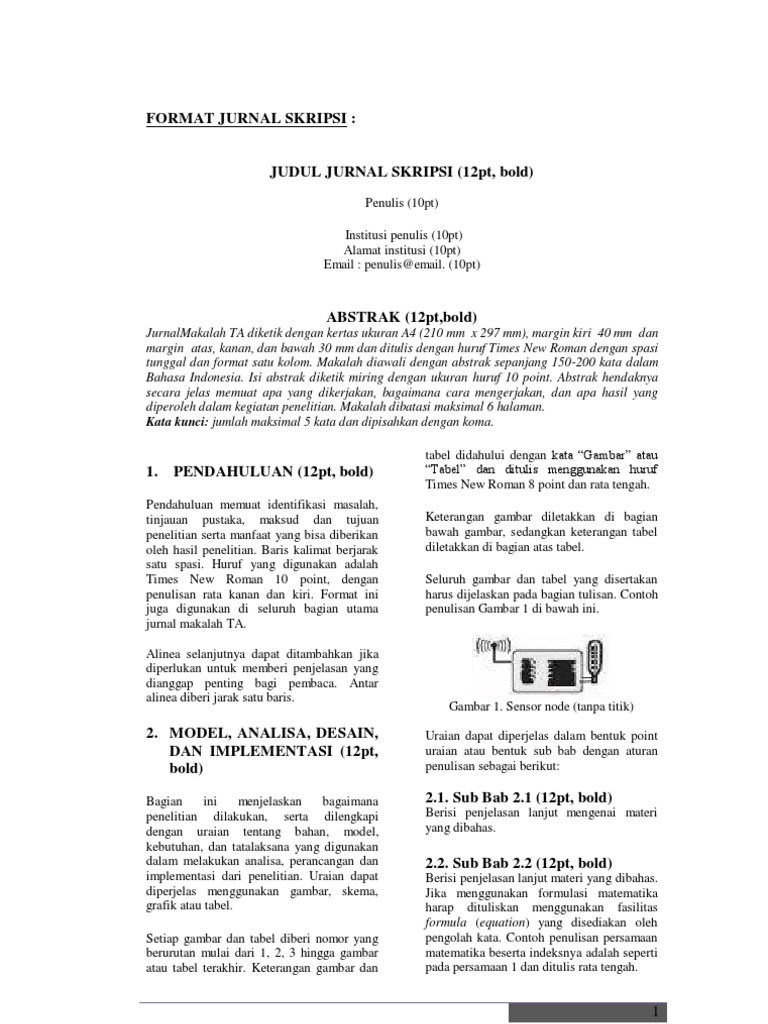 Format Jurnal Skripsi