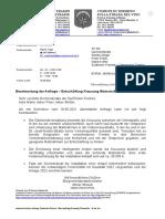 """Anfrage Tramin / Antwort auf die Anfrage """"Entschärfung Kreuzung Weinstraße-In der Au"""""""