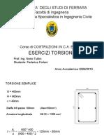 8.1 - Esempio SLU torsione