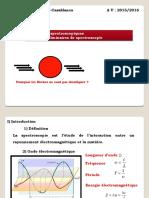 Présentation Notions préliminaires spectroscopie LST Cours