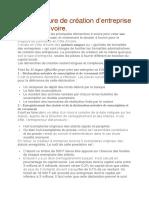 La procédure de création d entreprise en ci pdf