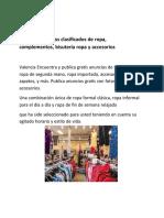 Valencia Anuncios Clasificados de Ropa