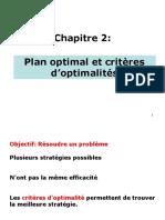 Ch2 Plan Optimal Et Critères d'Optimalités