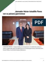 24/09/2019 Se reúnen, el gobernador Héctor Astudillo Flores con su paisana guerrerense