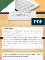 METHODOLOGIE DE REDACTION Mohamed ADJIBADE