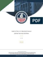 DOJIG Audit of the US Marshals Service