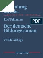 Selbmann Der Deutsche Bildungsroman Segunda Edicion 1994