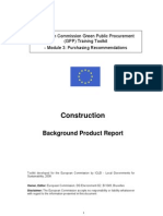 EU Green Procurement  Construction Technical specification construction_GPP_background_report