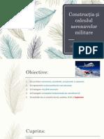 Construcția și calculul aeronavelor militare