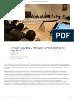 24/09/2019 Revisan Astudillo y Mesa Por La Paz Acciones de Seguridad