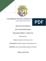 Trabajo Investigativo Sobre Los Problemas Psicosociales (Practicum 1)