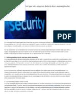 Consejos de ciberseguridad que toda empresa debería dar a sus empleados