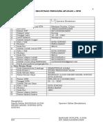 Form Registrasi User301571